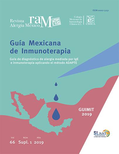Ver Vol. 66 (2019): Suplemento 1: GUIMIT 2019, Guía Mexicana de Inmunoterapia