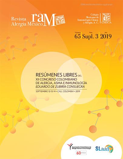 Ver Vol. 66 (2019): Suplemento 3: Resúmenes libres. XII Congreso Colombiano de Alergia, Asma e Inmunología  Eduardo de Zubiría Consuegra